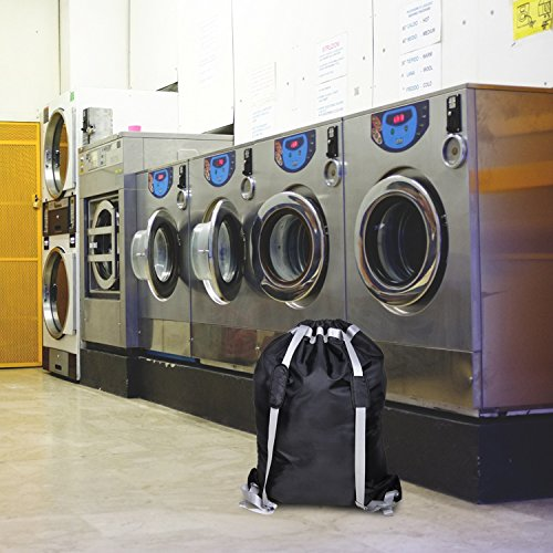 """Large Laundry Bag『36""""X26""""』,VDS Large Laundry Backpackwith 2 Strong Adjustable Shoulder Straps College Laundry BagLaundry Clothes Bag for Heavy Duty Use-Trips to Laundromat-Household Storage by VDS (Image #5)"""