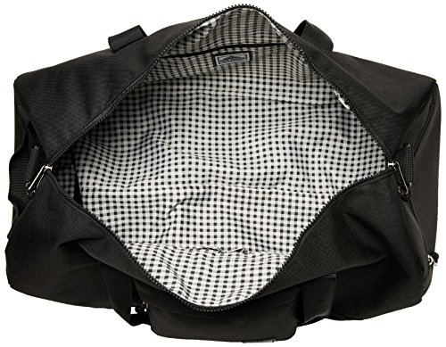 51LKOil2FyL - Steve Madden Men's Solid Nylon Duffle, deep black, One Size