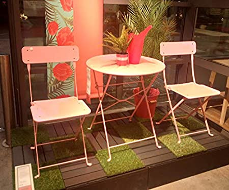 Ikea Bellissimo Coordinato Di 2 Sedie E 1 Tavolo Da Giardino Colore Rosa Amazon It Casa E Cucina