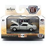 M2 Machines 1966 Ford Mustang Fastback 2+2 GT (Silver Frost Metallic w/Black Stripes) - Detroit Muscle Release 41 2018 Castline Premium Edition 1:64 Scale Die-Cast Vehicle (R41 17-65)