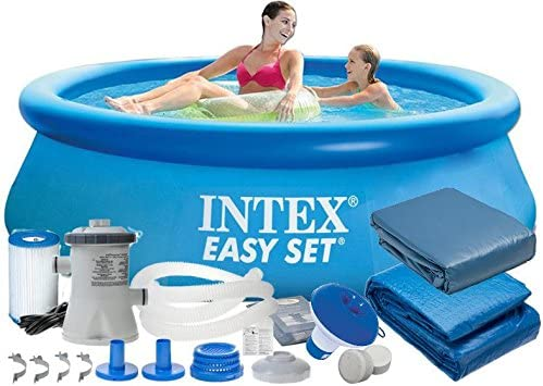 Intex 28112 9 en 1 244 x 76 cm 2419l Full Pool – Juego Easy – Set ...