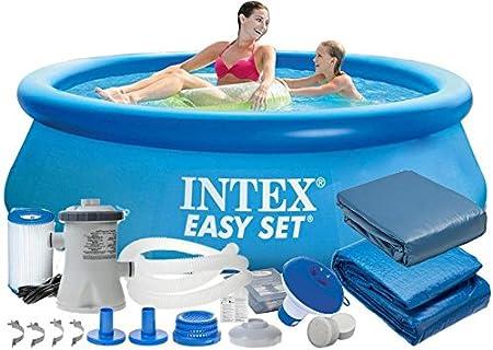 Intex 28112 9 en 1 244 x 76 cm 2419l Full Pool – Juego Easy – Set de Jardín Piscina: Amazon.es: Jardín