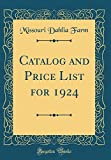 Amazon / Forgotten Books: Catalog and Price List for 1924 Classic Reprint (Missouri Dahlia Farm)