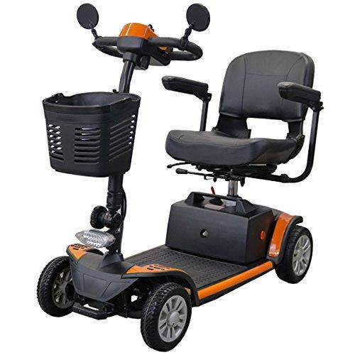 電動シニアカート オレンジ 電動カート シルバーカー サイドミラー 車椅子 運転免許不要 電動車いす 電動車椅子 介護 福祉 バックミラー 鏡 充電 シート回転 高さ調節 折りたたみ 軽量 四輪車 4輪車 移動 高齢者 お年寄り 乗り物 スクーター scooters02or B077NZ3222