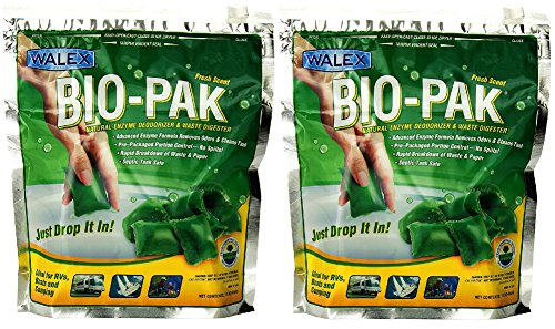 walex-bio-11530-bio-pak-natural-holding-tank-deodorizer-and-waste-digester-pack-of-10-2-pack-of-10