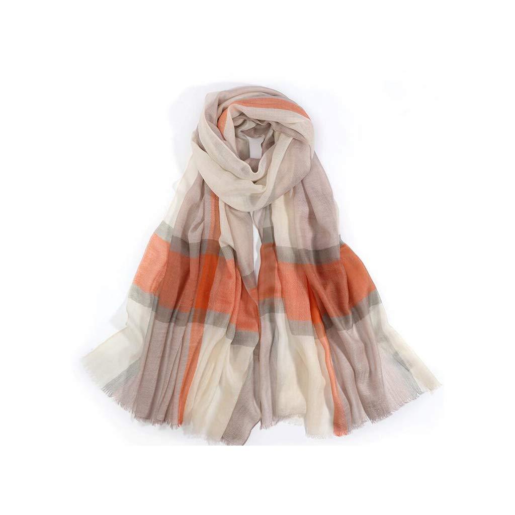 E JUN Plaid Scarf Shawl Dualuse Ladies Winter Cashmere Warm Wild Long Section (color   C)