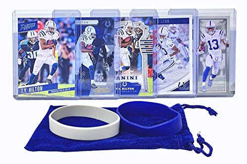- T. Y. Hilton Football Cards (5) Assorted Bundle - Indianapolis Colts Trading Card Gift Set