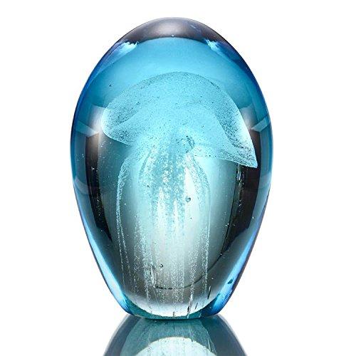 Glass Art Statue - SPI Home Art Glass Blue Mist Jellyfish