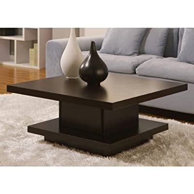 Wakiaka Pagoda Coffee Table. These Modern Coffee Tables Are Great For Tying Together Living Room Furniture. Each Table Features A Solid Wood Construction And A Coffee Bean Finish. This Piece Can Also Function As A Unique Furniture Side End Table. (Coffee