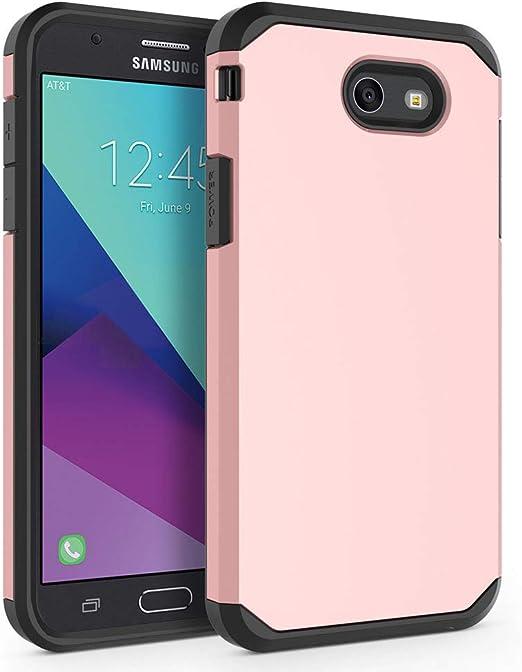Coque pour Samsung Galaxy J7 Prime/Galaxy J7 V/J7 V/Galaxy J7 2017/Galaxy J7 Perx/Galaxy J7 Sky Pro/Galaxy Halo, Syoner [Armor] Coque de protection ...