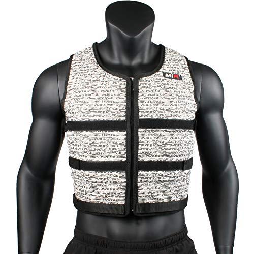 Mir Super Slim AIR Flow Adjustable Weighted Vest Machine Washable. for Men & Women (Black - 16LBS) by Mir (Image #1)