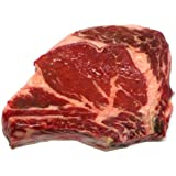 New York Prime Meat USDA Prime 21 Days Aged Beef Rib Eye Steak Bone, 1-3/4-inch thick, 2-Count, 30-Ounce Packaged in Film & Freezer Paper