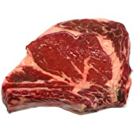 New York Prime Meat USDA Prime 21 Days Aged Beef Rib Eye Steak Bone, 1-1/2-inch thick, 2-Count, 24-Ounce Packaged in Film & Freezer Paper