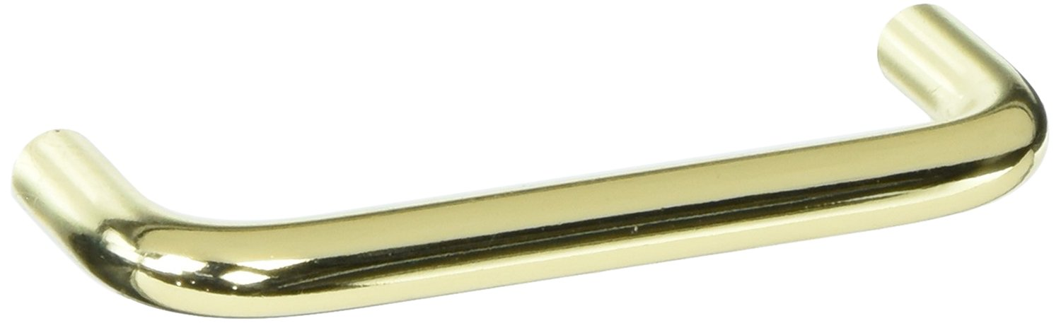 Solid Brass 25 Pack BP865CS3-25 Pack Amerock BP865CS3 Polished Brass Wire Cabinet Hardware Handle Pull 3 Inch Hole Centers 25 Pack Solid Brass 3 Inch Hole Centers