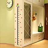 Highpot Height Scale Measure Growth Chart Wall Stickers For Kids Baby Nursery Bedroom Cartoon Decal Art Home Decor (B)