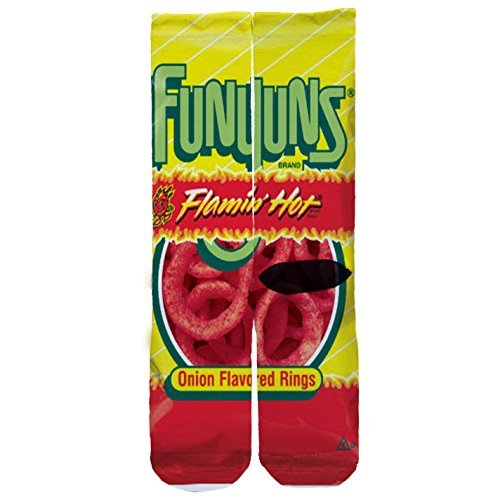 memo-apparel-flamin-hot-funyuns-custom-socks-one-size-6-12-red