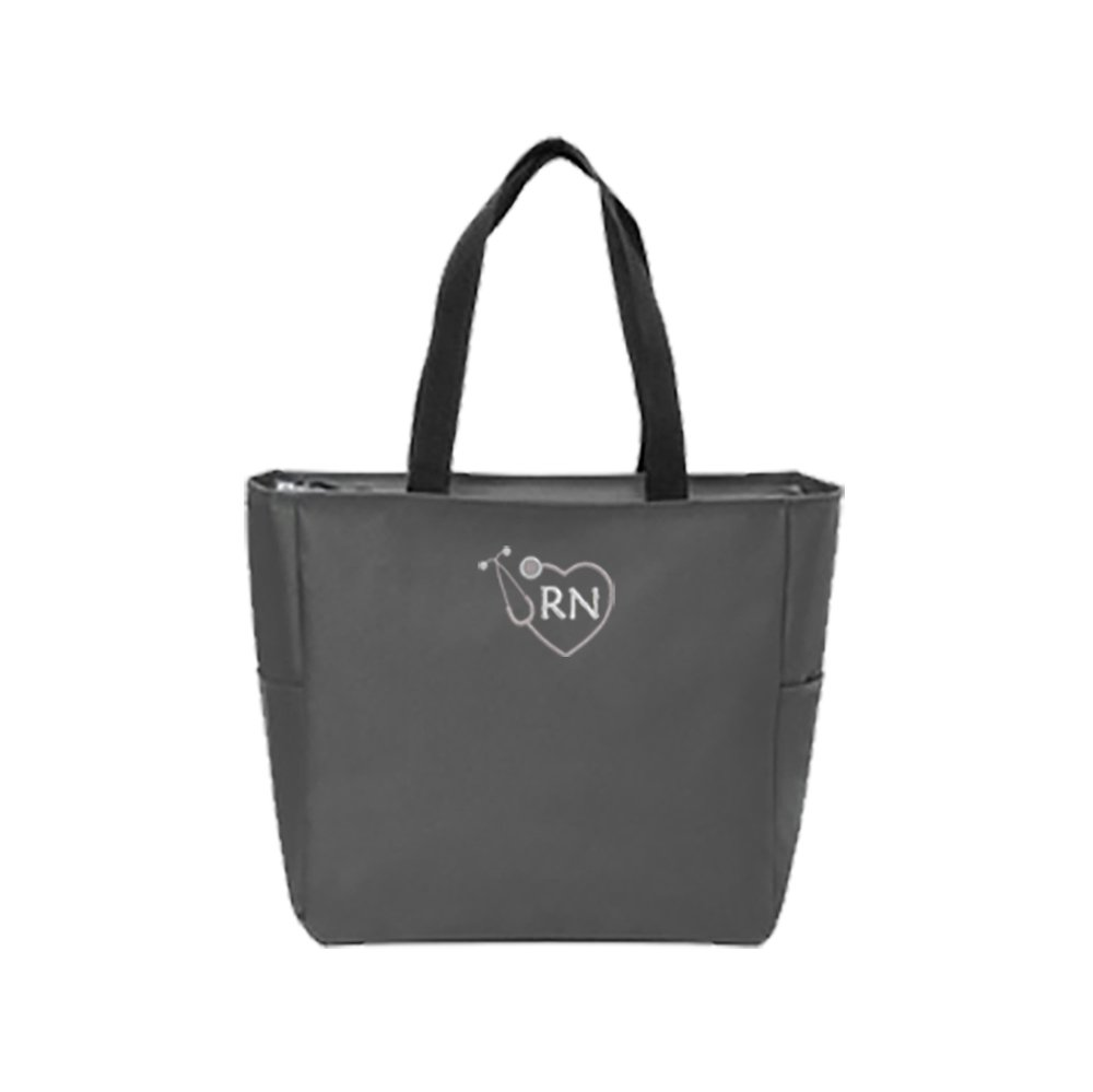 RN Nurse Tote Bag | Gift for Nurse (Charcoal)