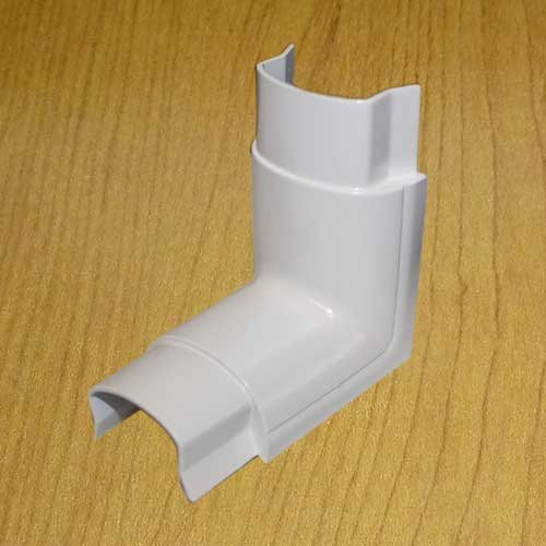 Inside Elbow Joint for Smooth Mould Hinged Cable Raceway With Adhesive Back (width 1.22