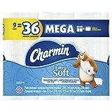 Charmin Papel de Baño, Ultra Soft, 9 Mega Rollos