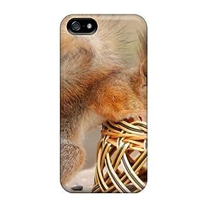 For Iphone 5/5s Premium Tpu Case Cover Squirrel Protective Case