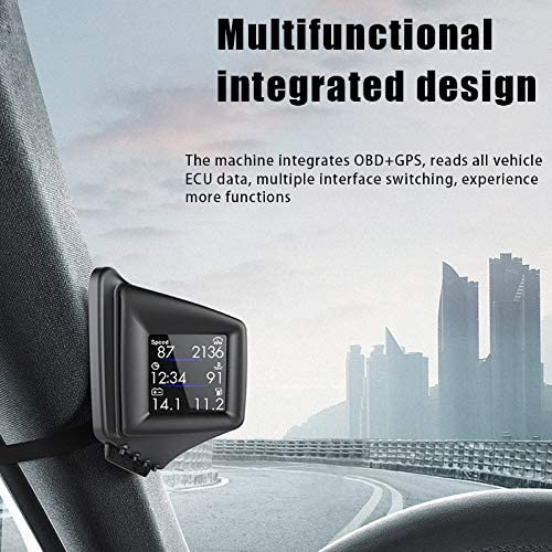 orologio di velocit/à e temperatura dell/'acqua display HUD Head-up per parabrezza CFeng Car Heads Up Display OBD GPS Dual Mode Multifunzione