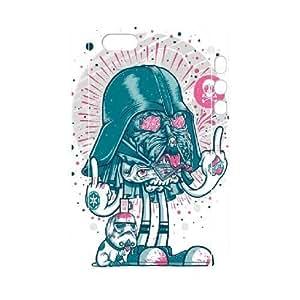 3D [Star Wars Darth Vader Series] IPhone 5,5S Case Darth Vader Star Wars Funny Graffiti - White