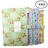 YOOFUN Portable Accordion Document Expanding File Folder, Letter Size and A4 File Organizer ,8 Pockets (set 4)