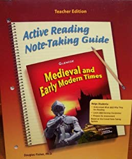 active reading note taking guide teacher edition medieval and rh amazon com active reading note taking guide teacher edition active reading note taking guide answers world history