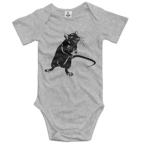 Unisex Baby's Climbing Clothes Set Mouse Bodysuits Romper Short Sleeved Light Onesies for 0-24 (Grey Mouse Onesie Costume)