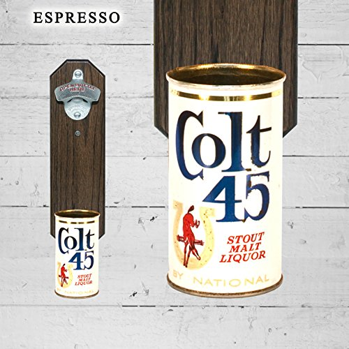 wall-mounted-bottle-opener-with-vintage-colt-45-beer-can-cap-catcher
