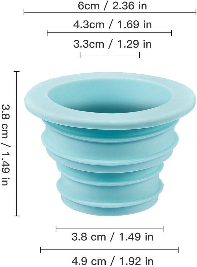 Lavadora Anillo Sellado Tubo Desag/üe 4 Piezas Anillo Silicona Desodorante Tap/ón Sellado para Ba/ño Cocina Herramientas de Limpieza Azul, Rosa, Blanco, Verde