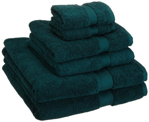 Superior 900 GSM Luxury Bathroom 6-Piece Towel Set, Made of 100% Premium Long-Staple Combed Cotton, 2 Hotel & Spa Quality Washcloths, 2 Hand Towels, and 2 Bath Towels - Teal