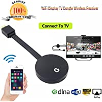 YJYdada Wifi Display HDMI 1080P TV Dongle Receiver Fits Smartphone Laptop TV LX