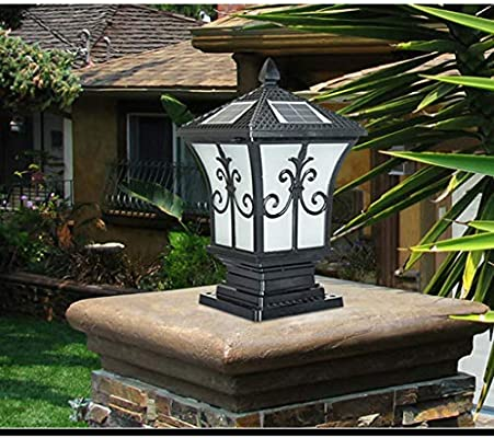 Solar Landscape Pillar Light Foco Exterior Lamp Post Gate