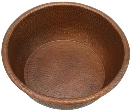 PED20 inch Hammermarc Spa Foot Soak Copper Bowl-14 inch bottom