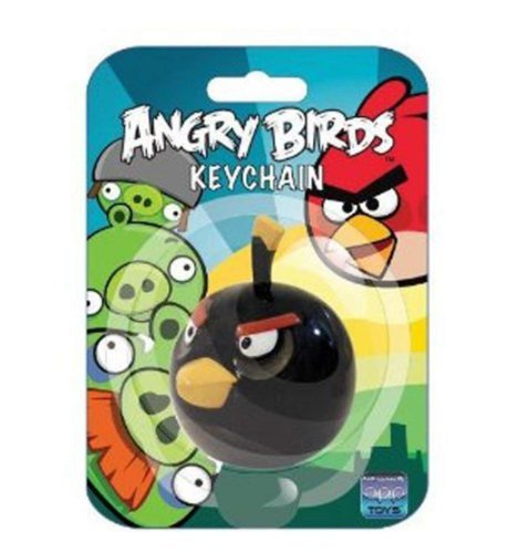 Angry Birds Black Bird Key Chain by Commonwealth Toys