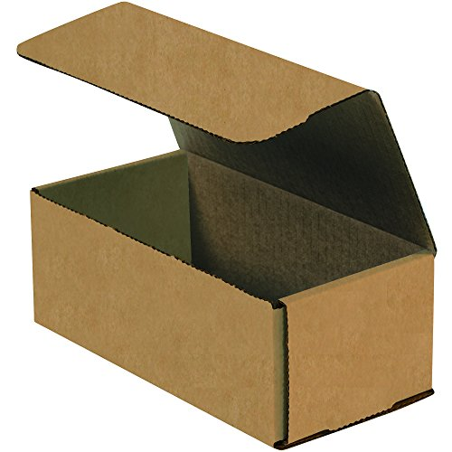 BOX USA BM1042K Corrugated Mailers, 10'' x 4'' x 2'', Kraft (Pack of 50) by BOX USA