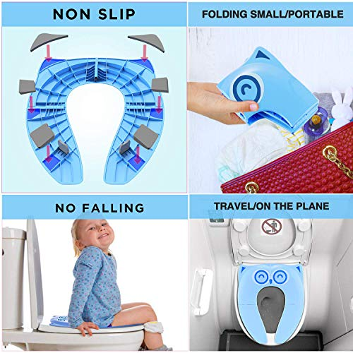 Upgraded Potty Seat Folding Travel Portable Cover For Toddler Kids ~ US Seller