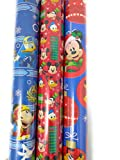 Christmas Wrapping Holiday Paper Gift Greetings 3 Rolls Design Festive Mickey Mouse & Friends Tsum Tsum