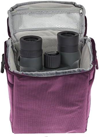 Navitech Purple Protective Portable Handheld Binocular Case and Travel Bag for the Nikon ACULON A30 10X25