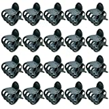 100 pcs Plant Clips, Orchid Clips Plant Orchid Support Clips Flower Vine Clips Supporting Stems Vines Grow Upright Dark Green