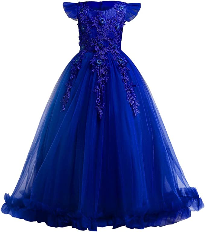 Vestiti Eleganti Per Matrimonio Per Ragazze.Fymnsi Vestito Elegante Da Ragazza Bambini Bambina Fiore Ragazze