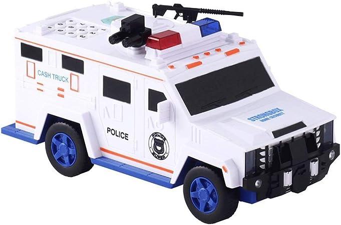 HJSGXXN Hucha Camión De Efectivo Dinero Automático Contraseña Huella Digital Niño Caja De Depósito Creativo Personalidad Money Bank (Color : White): Amazon.es: Hogar