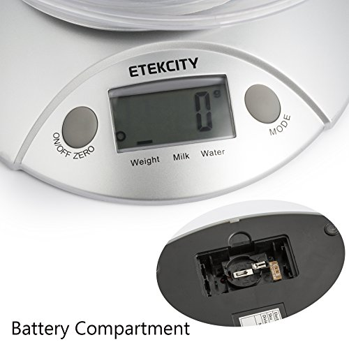 Etekcity Digital Kitchen Food Scale and Multifunction Weight Scale with Removable Bowl, 11 lb 5kg by Etekcity (Image #5)