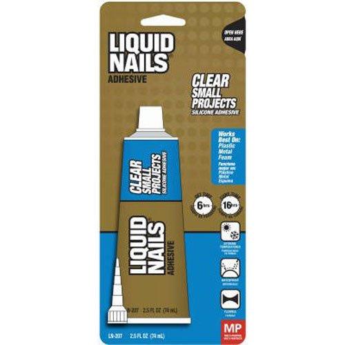 Liquid Nails LN207 All Purpose 2.5-Ounce Adhesive, 2.5oz, Clear ()