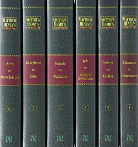 Matthw Henry's Commentary on ther Whole Bible (six volume set)