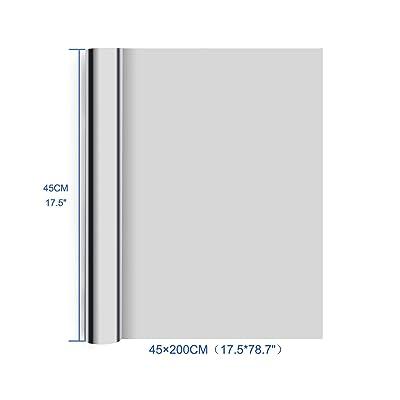 Homegoo One Way Silver Reflective 17.5 X 78.7 Inch Privacy Window Film
