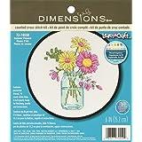 Dimensiones Verano de punto de cruz, diseño de flores, 72–74550