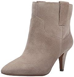 Nine West Women's Jamaya Suede Boot, Taupe, 10 M US