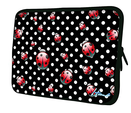 "7.9""Design ipad mini/iPad Mini 2/iPad Mini 3funda suave carcasa Bolsa Pouch Skin. Ajuste perfecto. Diferentes patrones Disponible. (parte 1de 3) Polka dots & Ladybugs"
